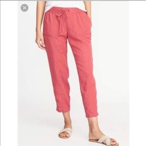 New Old navy coral cargo soft tencel pants